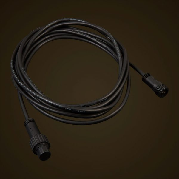 Black Commercial Festoon Extension Cord