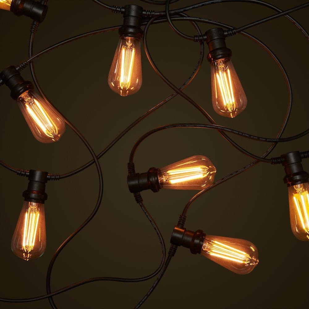 Globe String Lights Indoors : Commercial Festoon String Lighting System - Outdoor Festoon Lights