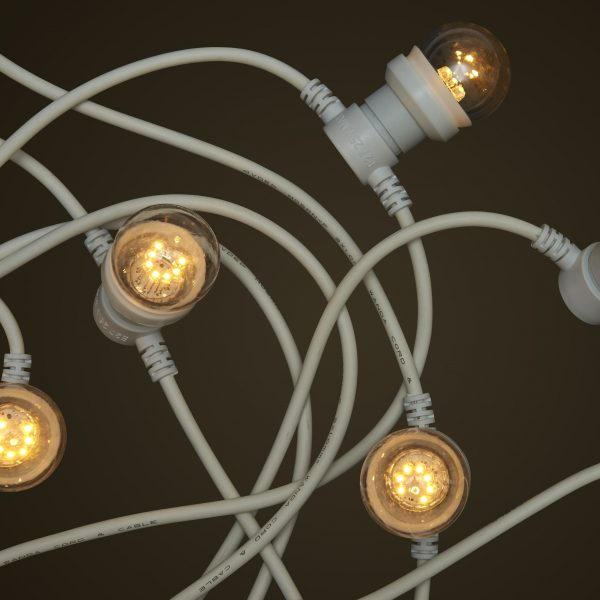 Commercial Festoon Lighting - 1W Small Clear LED Light Globes