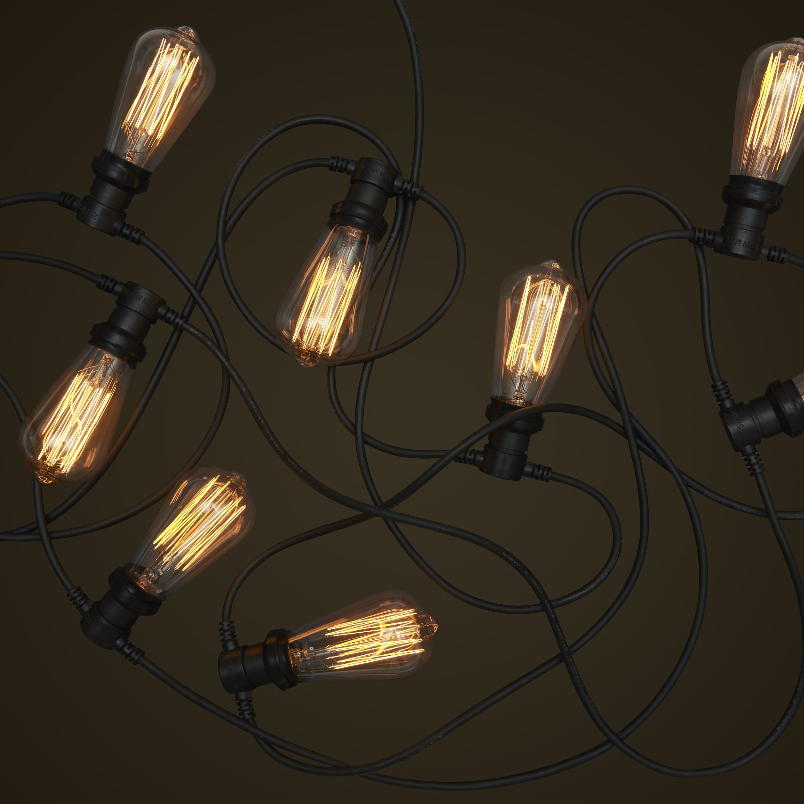 Low Voltage Outdoor Party Lights: Commercial Festoon String Lighting System