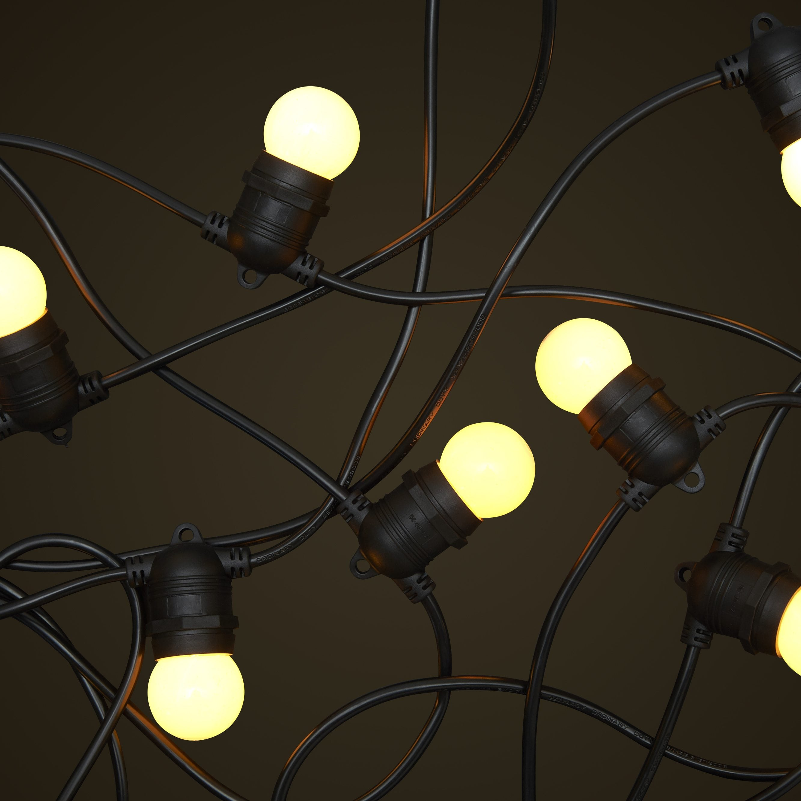 Low Voltage Outdoor Party Lights: 10M Black String Light