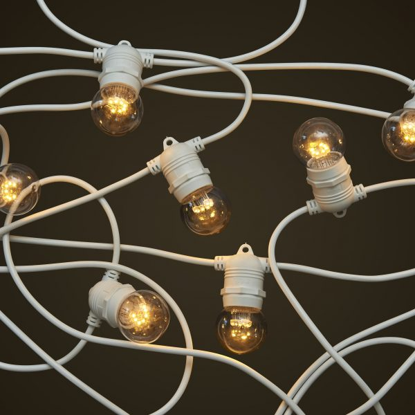 White Party Festoon Lighting - 1W Small Clear LED Light Globes