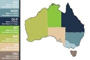Mr Festoon Lights Shipping and Delivery Map Australia