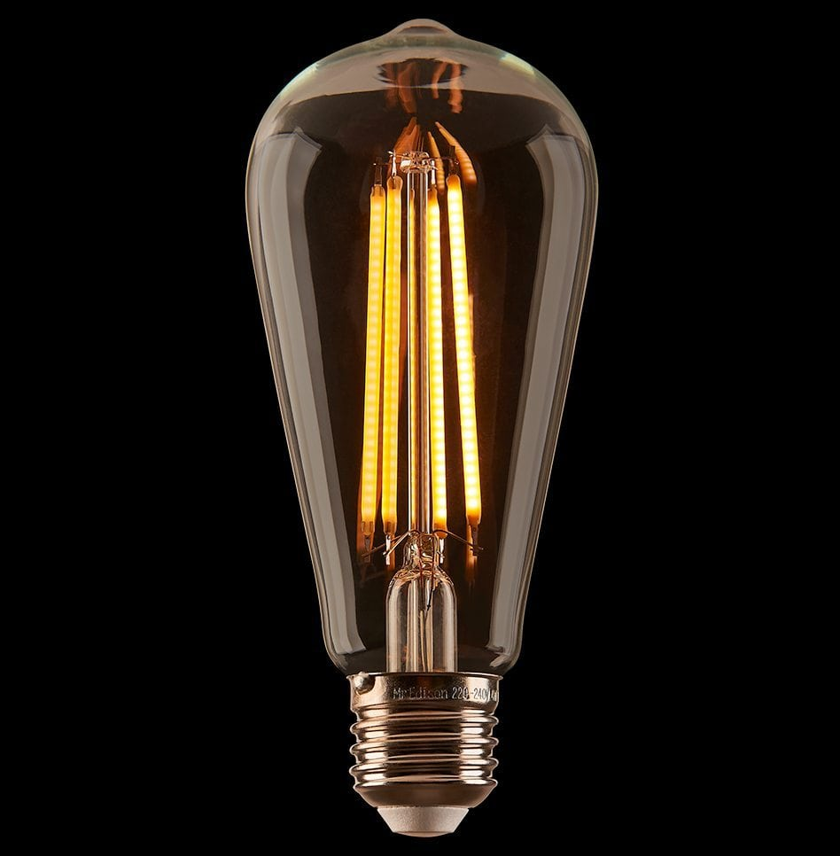 Edison Globe String Lights : Festoon Light Globes - LED Teardrop Edison String Light Bulb