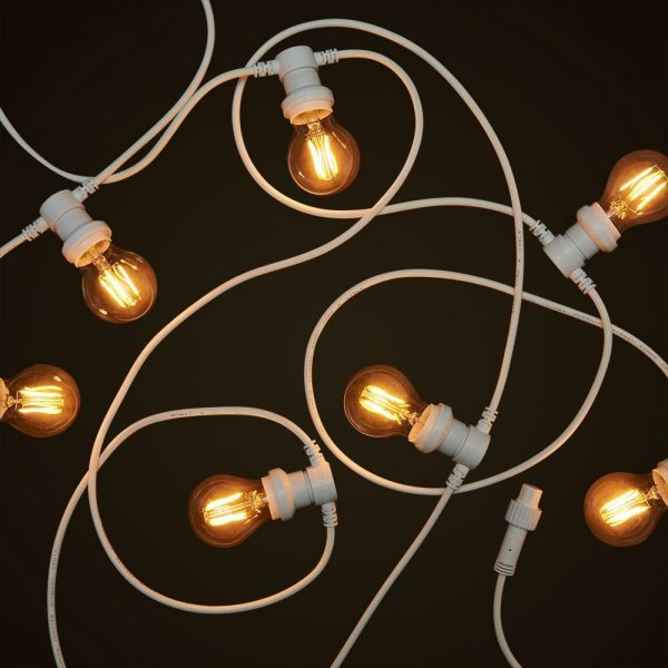 White Commercial Festoon - 4W Round LED Edison Globe