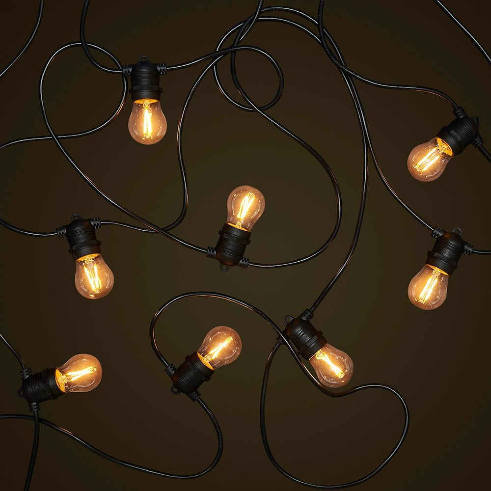 Led String Lights Reject Shop: Black 20M Festoon String Light
