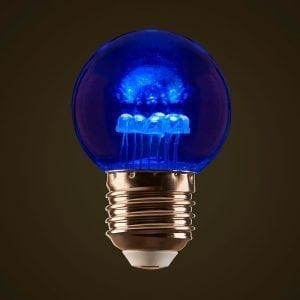 Blue 1W LED Coloured Globe