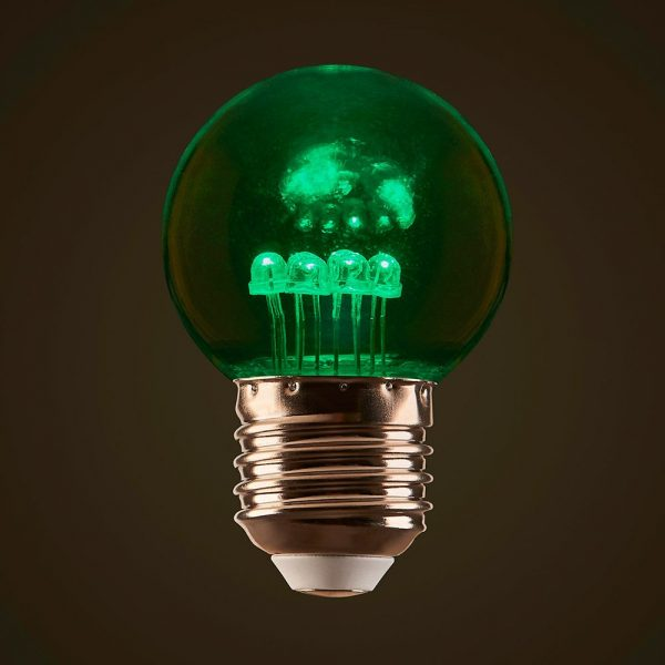 Green 1W LED Coloured Globe