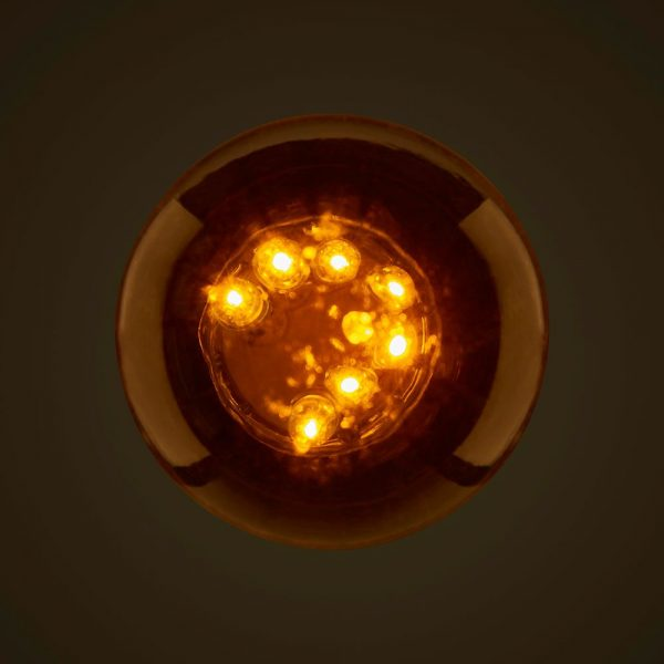 Orange 1W LED Coloured Globe Above