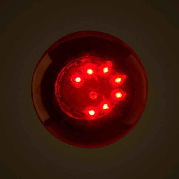 Red 1W LED Coloured Globe Above