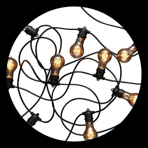 Party Festoon with Edison Globes