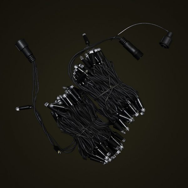 Black Cable 10M Fairy Light Bunched Off