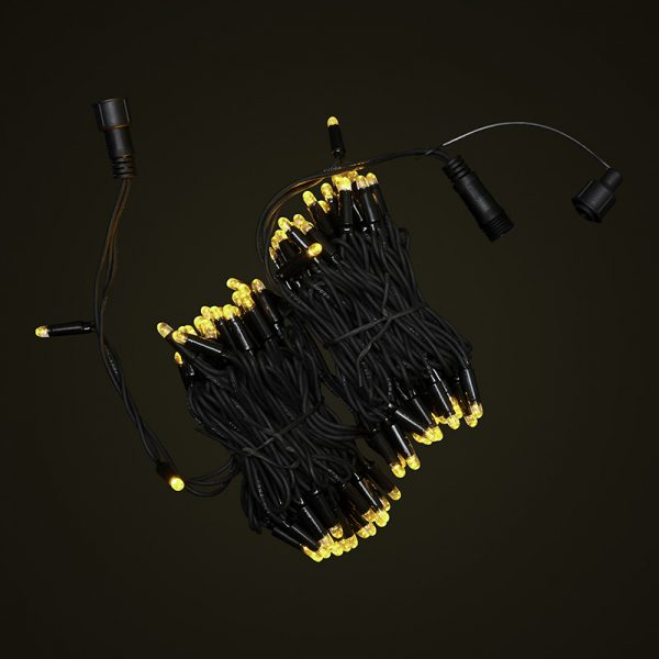 Black Cable 10M Fairy Light Bunched On