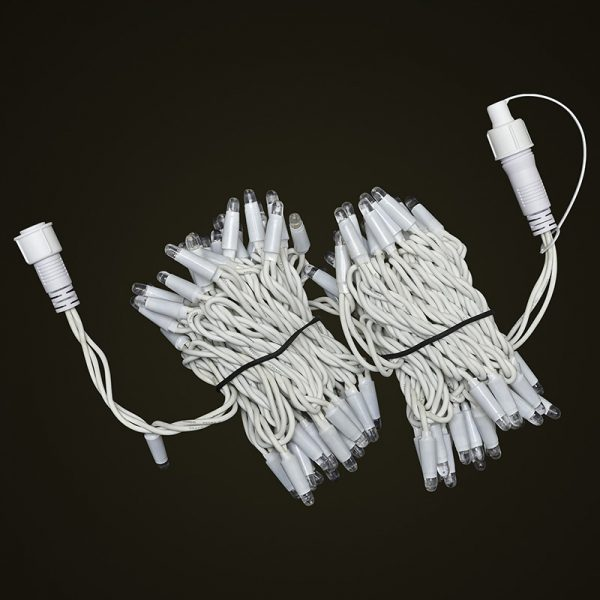 White Cable 10M Fairy Light Bunched Off