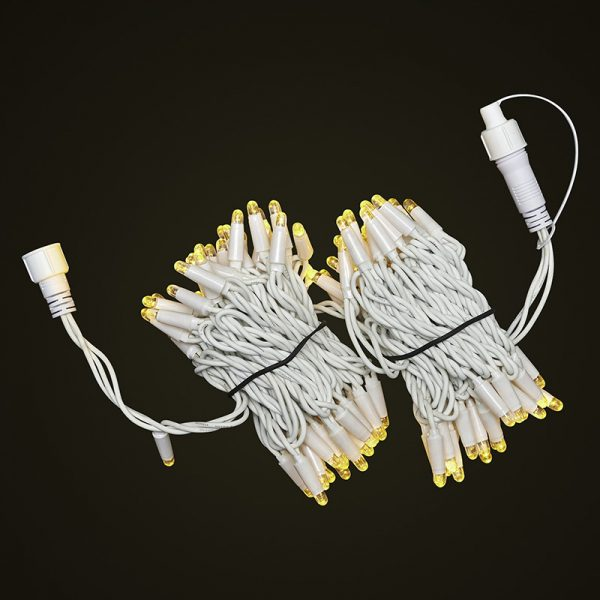 White Cable 10M Fairy Light Bunched On