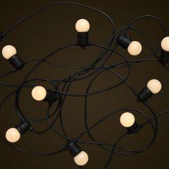 Black Party Festoon Lighting - 1W White LED Light Globes