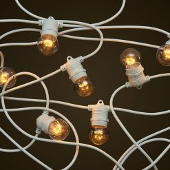 White Party Festoon 1W Clear LED Globes