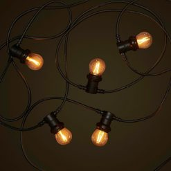 Black Commercial Festoon - 2W FIlament LED Globes