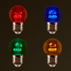 Multi Coloured 1W LED Festoon Globes