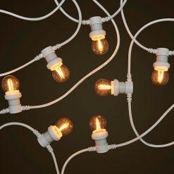 White Commercial Festoon - 2W Filament LED Globes